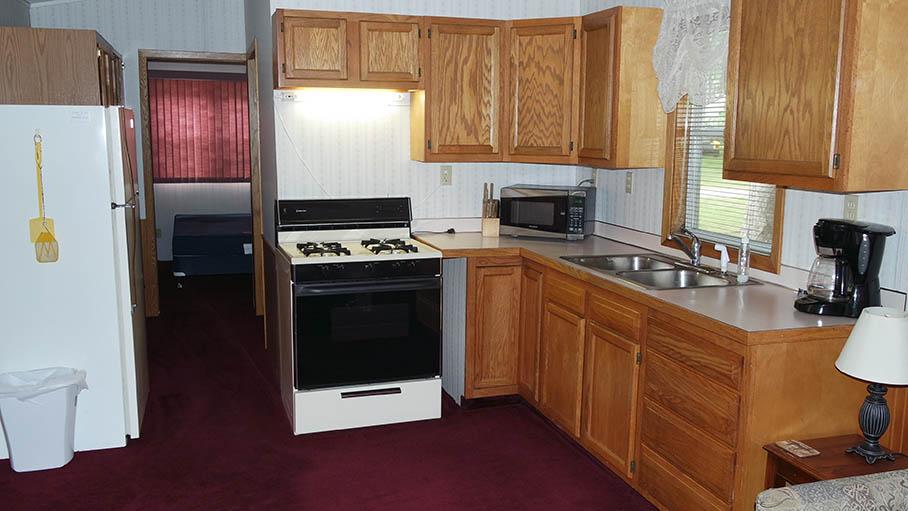park model vacation rental at snowflake campground in michigan